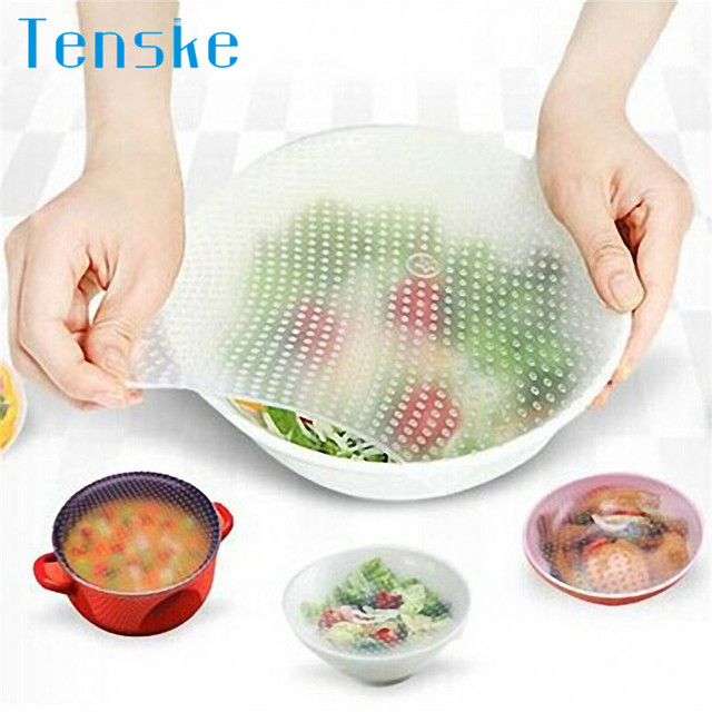 Multifunctional Reusable Silicone Food Wrap Seal Stretch Lid