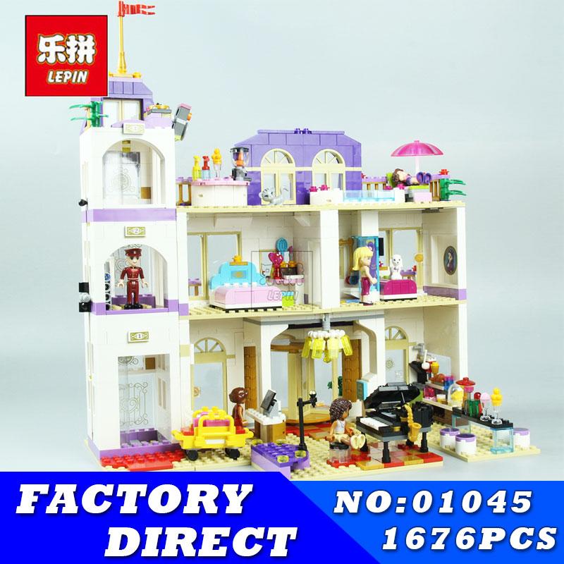 LEPIN 01045 1676Pcs Girls Series Heartlake Grand Hotel Set Children Eucational Building Blocks Bricks Toys Model Gift 41101