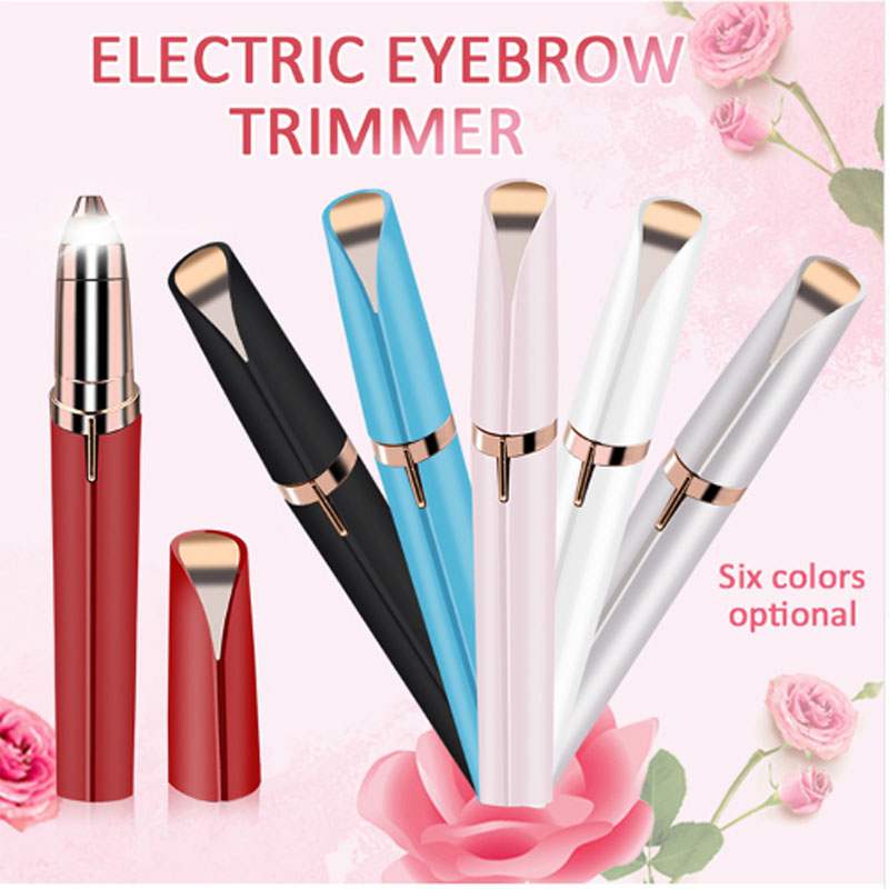 1pcs Electric Face Brows Hair Remover Epilator Lipstick Shape Mini Eyebrow Shaver Instant Painless Portable Epilator Dfdf
