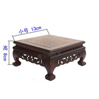 Red wooden furnishing articles household decoration several chicken wings wood stone bonsai tank base