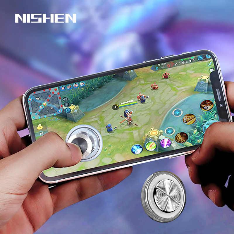 Круглый игровой джойстик для мобильного телефона рокер планшет Android Iphone металлический кнопочный контроллер легко курица ужин с присоской