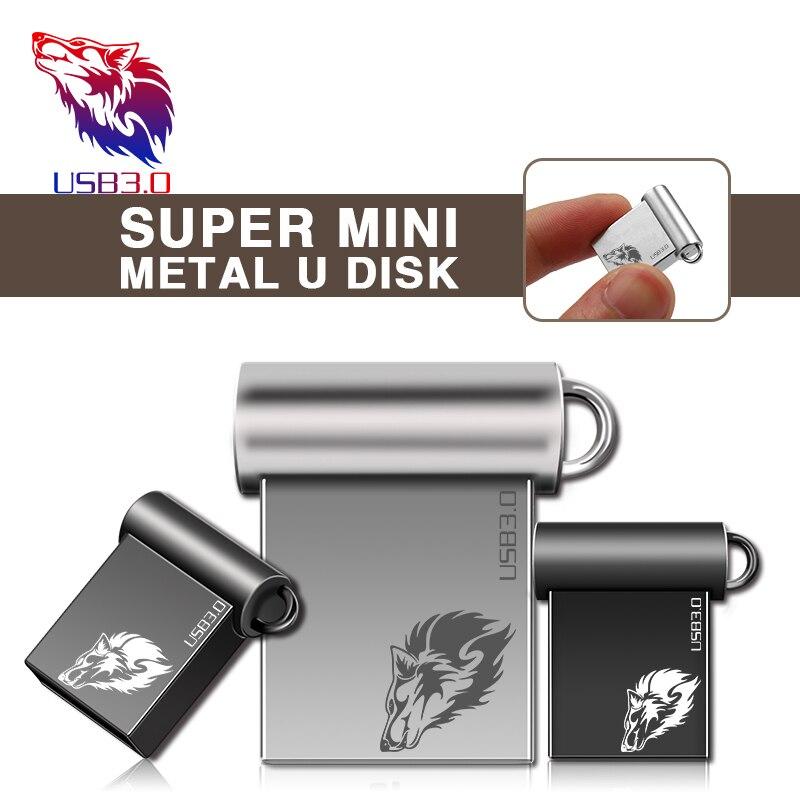 Newest Pendrive 128GB Metal USB Flash Drive 64GB Mini Pen Drive 16GB USB 3.0 High Speed USB Stick Waterproof USB Flash