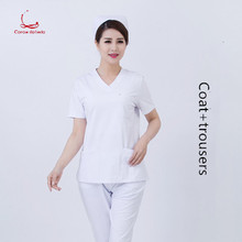 Nurses wear split suits short sleeves pure cotton doctors maternity nursing beauty Korean summer work clothes