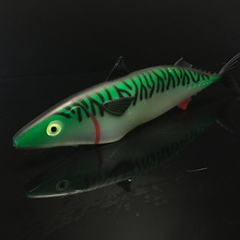 LUSHAZER Soft fishing bait 30cm 35cm sealurer bass silicone lures isca artificial plastic 3d lures fishing accesories tackles