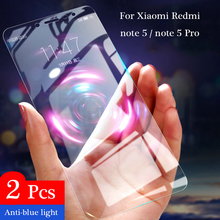 2Pcs Full Tempered Glass For Xiaomi Redmi Note 5 6 Pro Screen Protector Global version 9H Anti-Blu-ray For Redmi Note 5 6 glass 5d full curved tempered glass for xiaomi redmi note 6 pro 6 26 9h explosion proof screen protector for redmi note 6 pro global