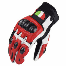 Motocross Carbon Fiber Genuine Leather Gloves Motorcycle Racing Riding Glove luva moto