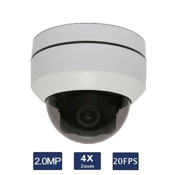 2.0MP 4X optical zoom 2.5 Inch 20fps P2P Onvif Mini Dome IP66 PTZ IP Camera