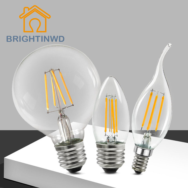 10 2 W C35 C35l Edison E27 Vintage In 4 E14 Stkspartij Lamp Us14 Clear Led Ac220v Glas 910 Kaars byY7gvf6