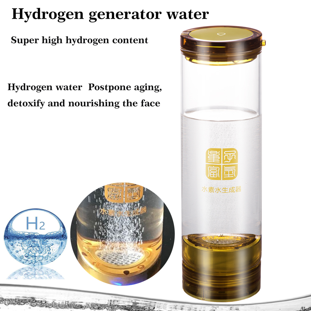Manufacturer Hydrogen generator water 600ML Seperate H2 and O2 High Pure hydrogen water glass cup Anti aging Strengthen immunity