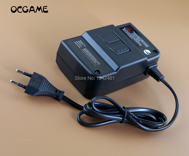 OCGAME high quality Black AC100 245V DC Power Supply Adapter Charger EU /US Plug Wall Charger For N64 Console