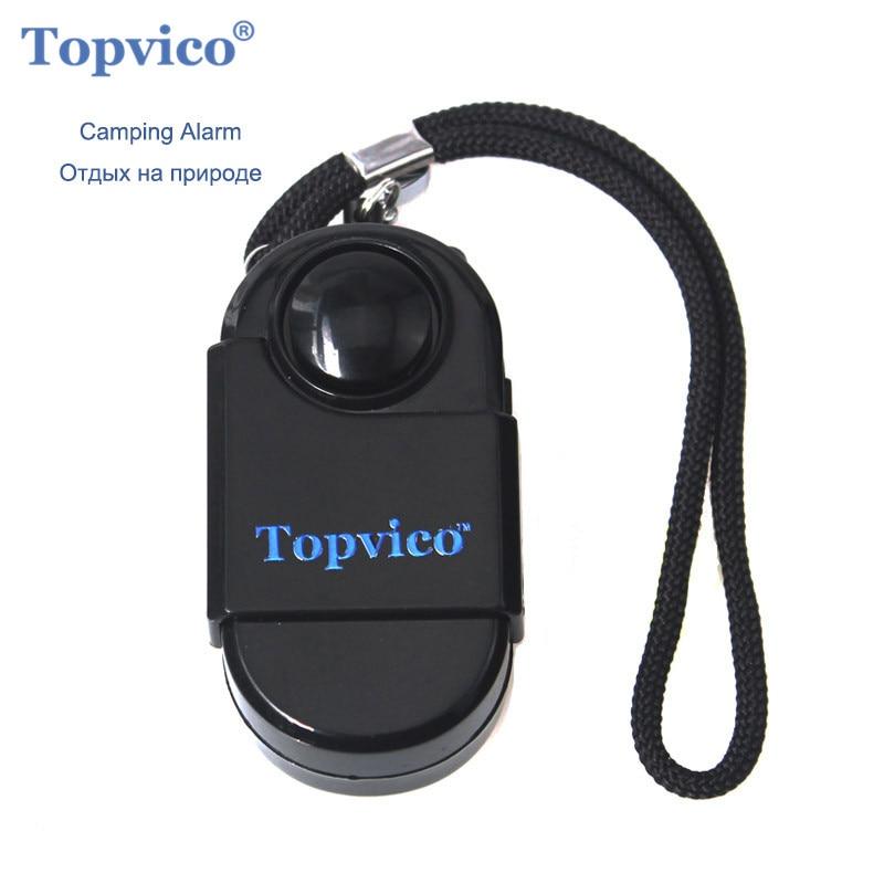 Topvico PIR Infrared Motion Detector Sensor Alarm Mini SOS Alarm Camping Travel 120dB Wireless Movement Sensor Security System