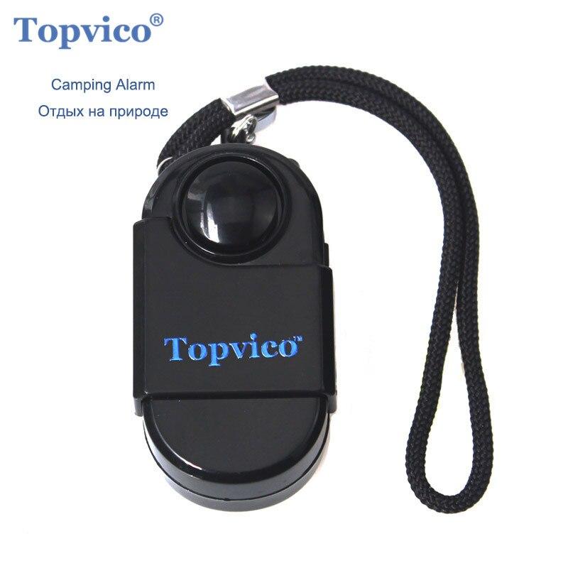 Topvico PIR Infrarouge Détecteur de Mouvement Capteur D'alarme Mini SOS Alarme Camping Voyage 120dB Sans Fil Capteur De Mouvement Système de Sécurité