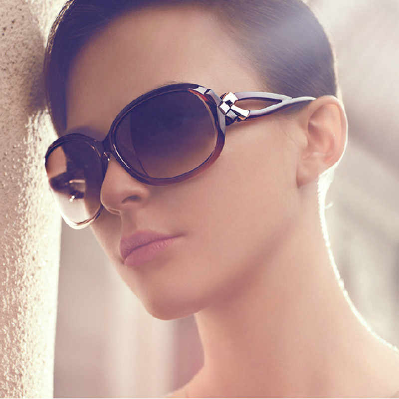 GUANGDU Fashion Classic Large Frame Oval Luxury Goggle Sunglasses Women's Lunette Soleil  Luxury Brand Has Colored Glasses UV4