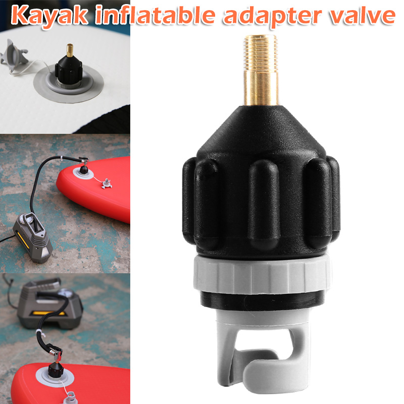 1pc Inflatable Boat SUP Pump Adapter Air Pump Valve For Kayaking FG66