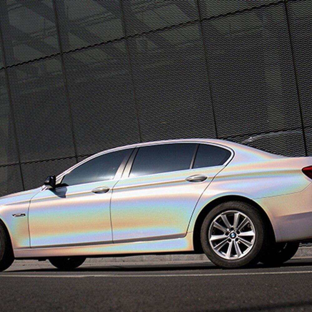 AUMOHALL 1.52x5 M couleur brillante bricolage carrosserie Films vinyle autocollant pour voiture décalque Film de dégagement d'air