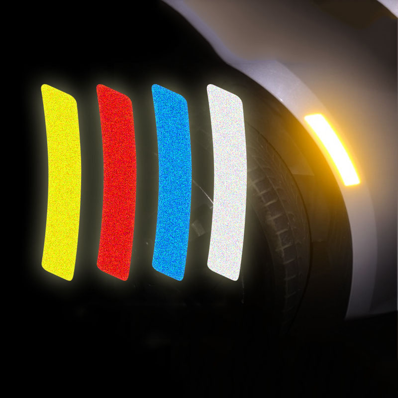 High bright reflective car fender tire stickers and decals,safe warning vinyl film sticker for ford focus 2/opel/skoda/audi a4 racing discovery car styling for ford focus 2 opel skoda audi a4 personality refit vinyl car sticker waterproof glue adhesive