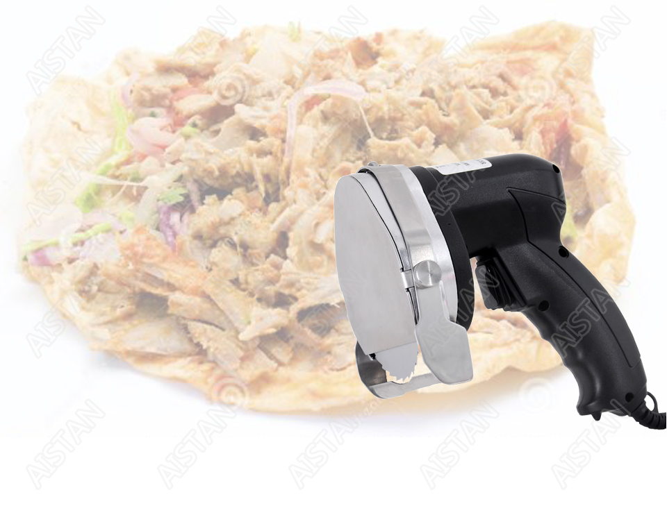 KS100E Commercial Doner Kebab Knife Slicer, Kebab Shawarma Gyros Cutter Stainless Steel Electric 80W/100mm 110V-120V/220V-240V 2