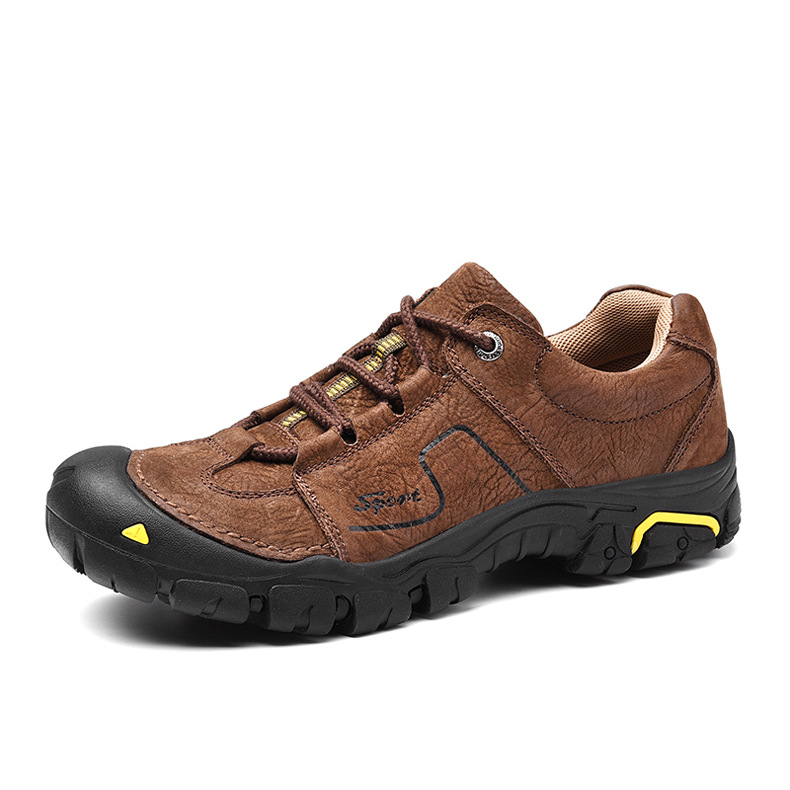 Men Genuine Leather Shoes Non slip Wear resistant Climbing Shoes Autumn Winter Outdoor Walking Travel Comfortable