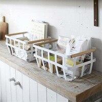 1PC Sundries Snack Storage basket Kitchen Storage & Organization White Multifunction Home