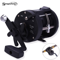 Sougayilang 3 8 1 Right Hand Black Baiting Casting Fishing Reel Drum Type Fishing Wheel Reel