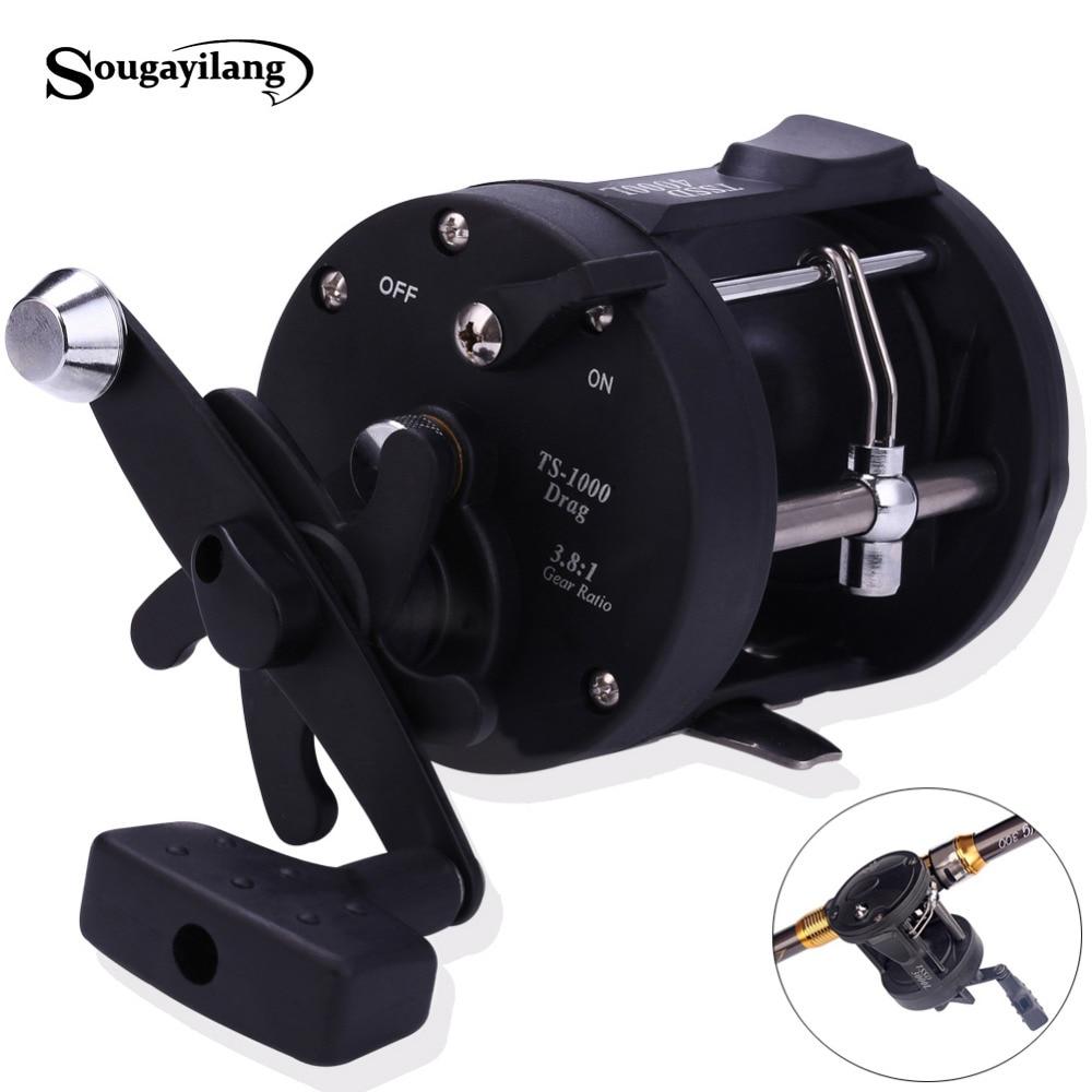 Sougayilang 3 8 1 Right Hand Black Baiting Casting Fishing Reel Drum Type Fishing Wheel Reel