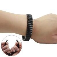 Модные Черный цвет неодимовые сильные магнитотерапия здоровья браслет без эластичной резинкой уход потеря веса изделия SMB1001