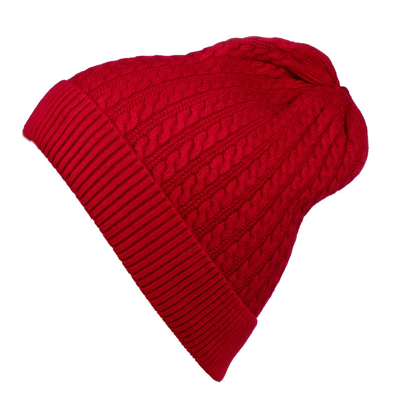 Saufuo Female Winter Knitted Beanies Skullies For Men Women Solid Striped Hat Caps 6 colors skullies