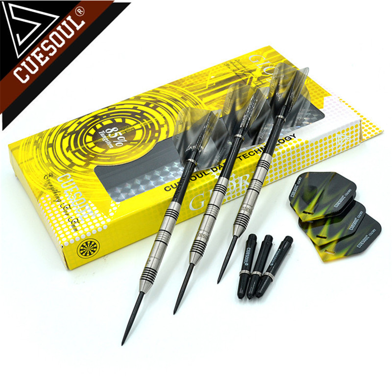 CUESOUL 24/26/28g Professional 85% Tungsten Steel Tip Darts 145mm With Nylon Dart Shafts CSGL-N2212 cuesoul 24 26 28g professional 85% tungsten steel tip darts 145mm with nylon shafts csgl n2209