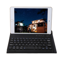 New Universal Flip Detachable Bluetooth Wireless Keyboard With Leather Protective Case Cover For 7 8 Ipad