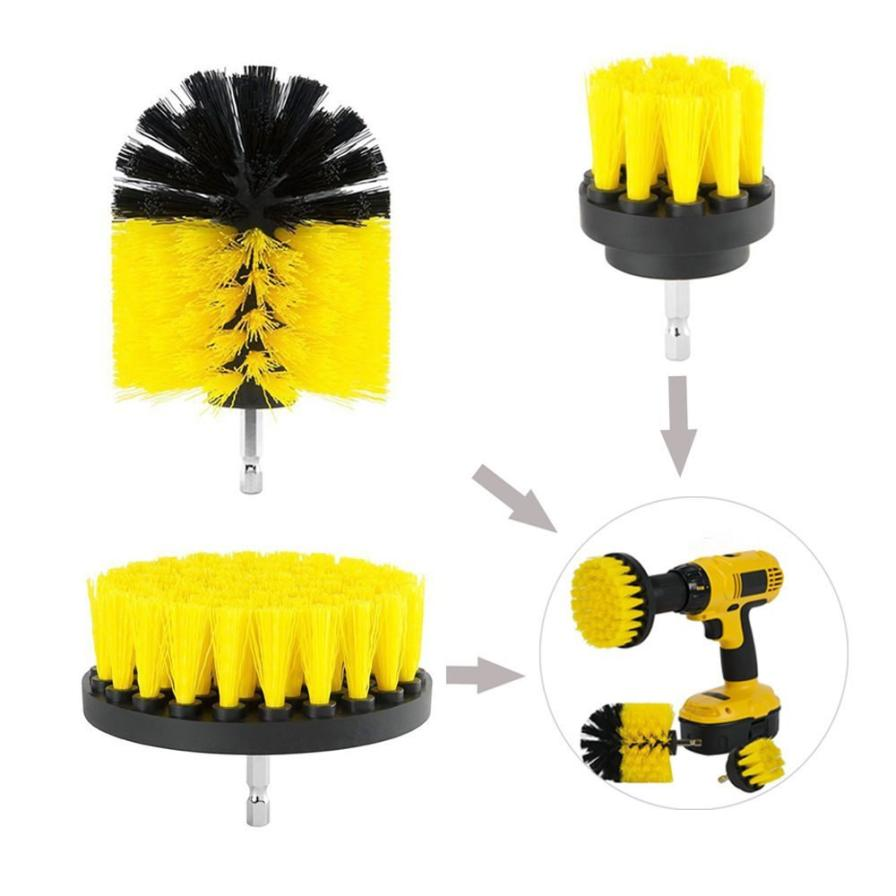 Electric Drill Brush Grout Power Scrubber Cleaning Brush Tub Cleaner Tool Electric Cleaning Brush Household Cleaning # ZC