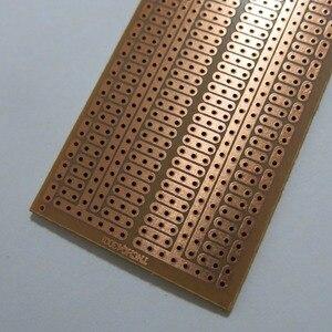 5pcs/lot Single Side 4.5x7cm universal Stripboard Veroboard vero Board bakelite experiment circuit board PCB Platine Matrix(China)