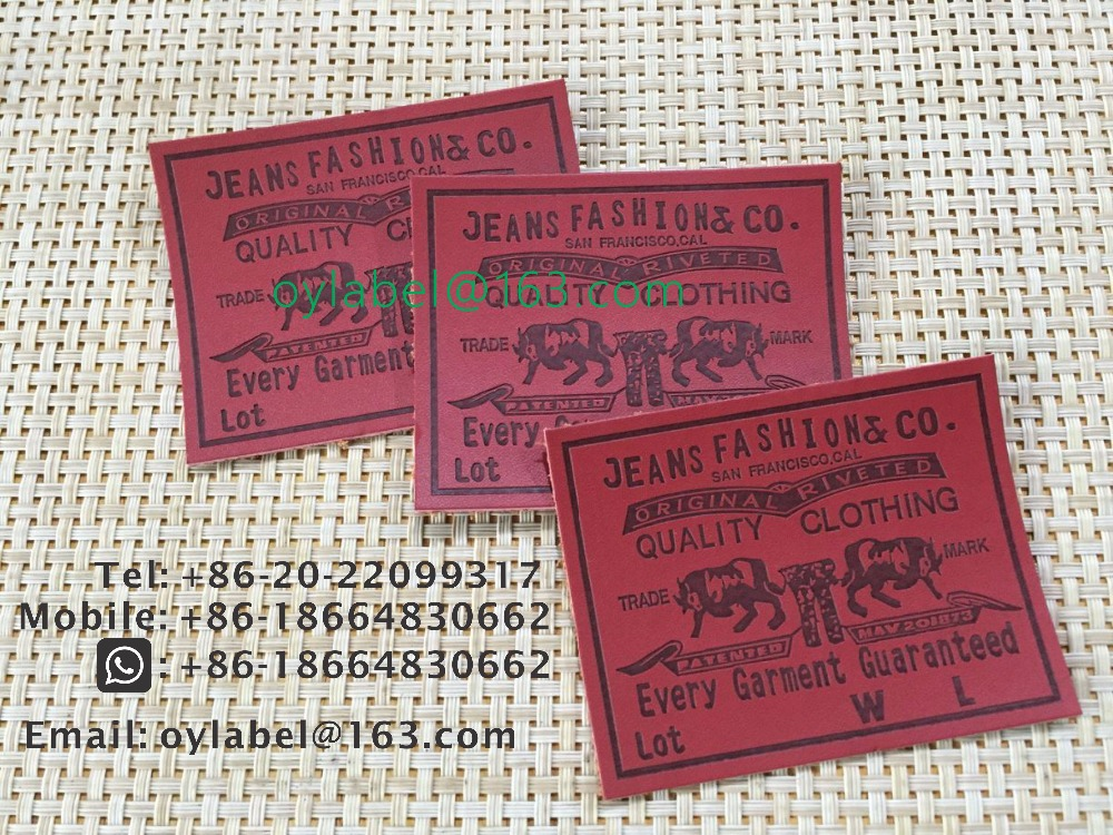 Custom Made High Quality Jeans Leather  Label / Simulation Leather Label   / Leather Label /main Label