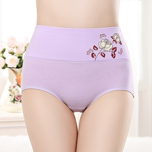 01958145fb High Waist Body Shaper Briefs Panties Women s Sexy Underwear Slimming Pants  girls Tummy Control cotton Underpants