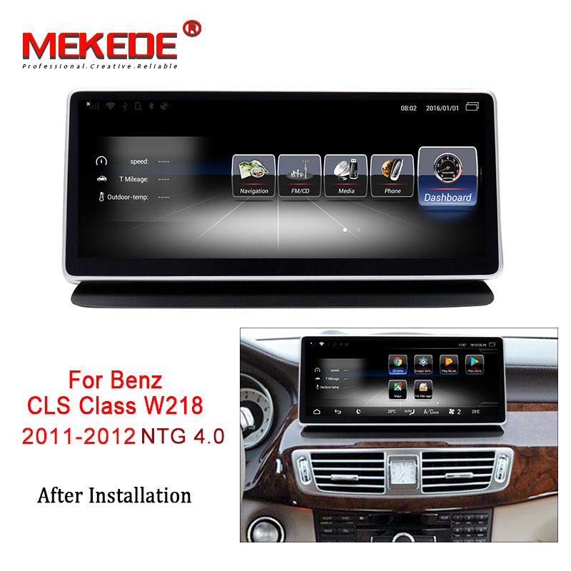 MEKEDE Car Multimedia Player 4G lte Android 7.1 Car DVD radio audio player For Benz CLS Class W218 2011-2013 3+32G