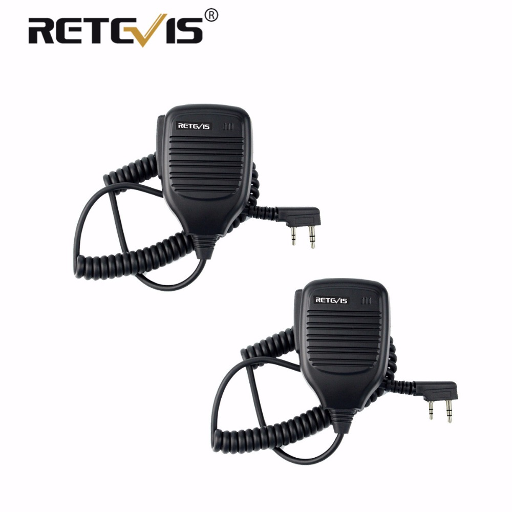 2pcs PTT Speaker Microphone Walkie Talkie MIC Accessories For Kenwood For Baofeng Bf-888S UV-5R Retevis RT5R H777 RT3 RT22 RT7