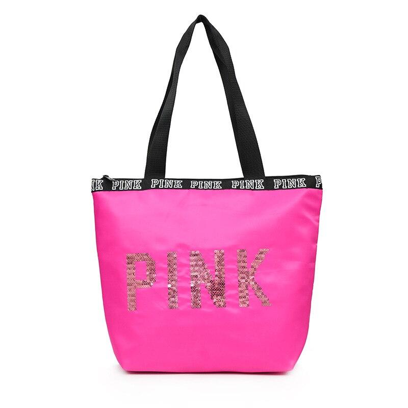 2019 Sequin Handbag Pink Women's Bag Beach Travel Lady's Bag Shoulder Men's Bag Luxury Handbags Women Bags Designer Sac A Main