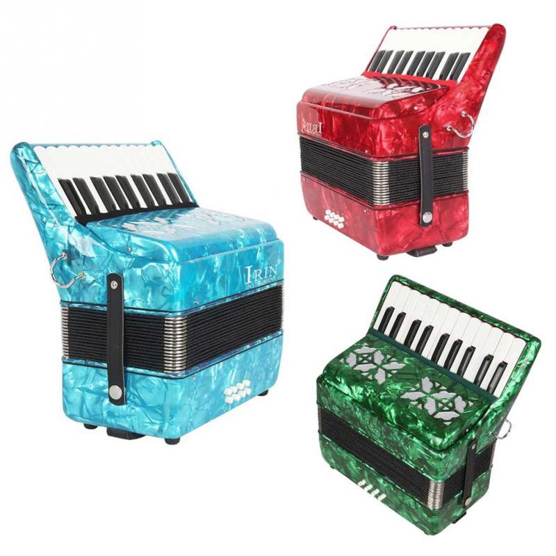 3 Colores De Madera De Arce Profesional 22-clave 8 Bajo Piano Acordeón Teclado Instrumento Musical Mejor Regalo Para Principiantes GarantíA 100% Ture