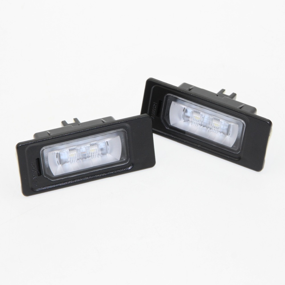 2pcs LED License Plate Lamp For Jetta A1 A3 A4 A5 A6 A7 Q3 Q5 TT 4GD 943 021 4G0 943 021 5N0 943 021 3AF 943 021 A  4G0943021 smaart v 7 new license