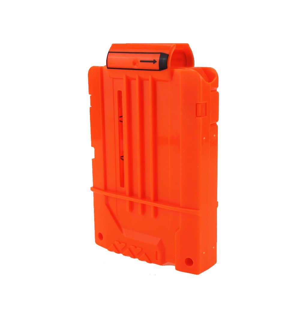 6 Reload Clip Tijdschriften Ronde Darts Vervanging Plastic Tijdschriften Speelgoed Pistool Zachte Kogel Clip Oranje Voor Nerf N-Strike elite