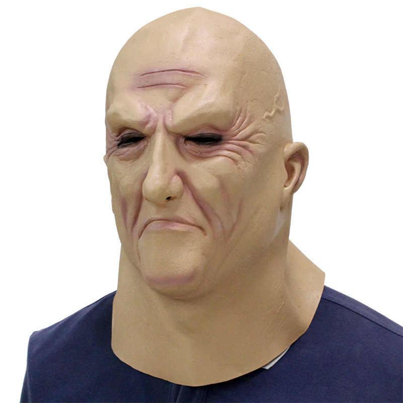 Realistico Di Natale Vecchio Uomo di Partito Mascherina Maschio Maschera Travestimento Lattice Costumi di Fantasia Testa di Gomma Per Adulti Maschere di Travestimento Puntelli Cosplay