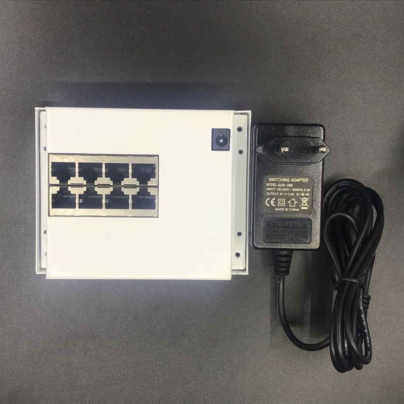 Image 5 - OEM PBC 8 порты и разъёмы Gigabit Ethernet коммутатор 8 порты и разъёмы с 8 булавки способ заголовок 10/100/1000 м концентратора 8way штекер питания печатной платы OEM Винт отверстие-in Сетевые коммутаторы from Компьютер и офис