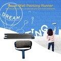 3pcs 확장 가능한 스레드 폴란드 스테인리스 극 그림 페인트 롤러에 대 한 핸들 휴대용 홈 오피스 그림 도구