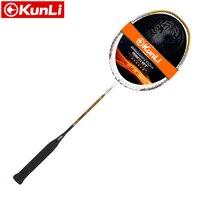 Free Shipping 100 Original KUNLI Badminton Racket Feather K 310 330 Full Carbon Professional Technology Feather