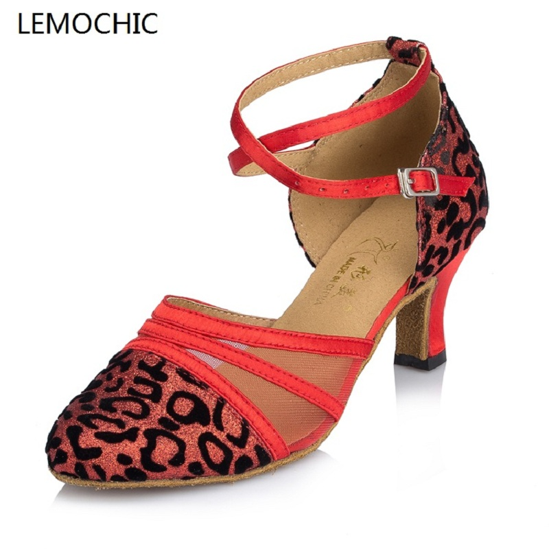 LEMOCHIC female models tango jazz samba tap latin newest good quality comfortable suitable for all year women dancing shoes