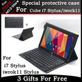 Ultra-thin Portable Bluetooth Keyboard Case For Cube i7stylus/iwork11 stylus 10.6 inch Tablet PC ,Free carved Language