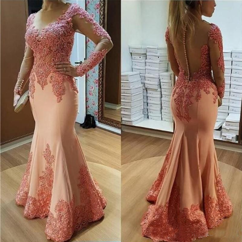 Sexy rouge plume sirène robes de bal 2K18 grande taille Vintage dentelle pailletée perlée africaine arabe filles robes soirée robe
