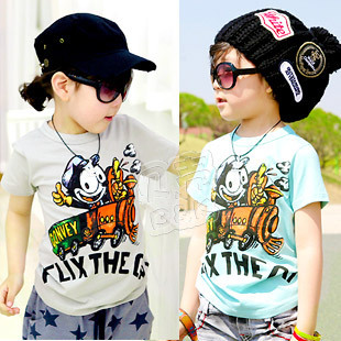 2012 summer letter cartoon boys clothing girls clothing baby short-sleeve T-shirt tx-1082