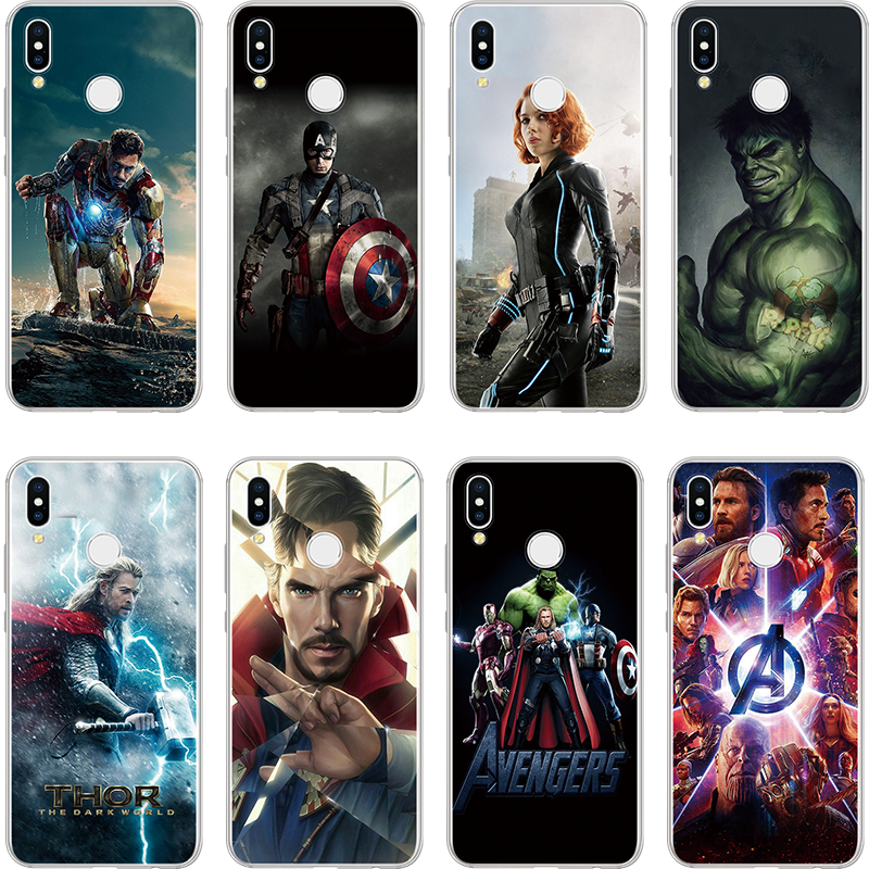 Avengers Series <font><b>Marvel</b></font> hero <font><b>Case</b></font> For <font><b>Huawei</b></font> Y9 Y6 <font><b>2019</b></font> G7 G8 Y6 II <font><b>Y7</b></font> 2017 Prime 2018 Nexus 6p nova 4 2i Plus 3 3i TPU Soft <font><b>Case</b></font> image