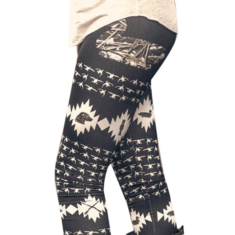 2017 Nieuwe Hot Vrouwen Herfst Winter Warm Stretchy Leggings Fashion Gedrukt Hoge Taille Skinny Leggings Broek Ropa Mujer Plus Size