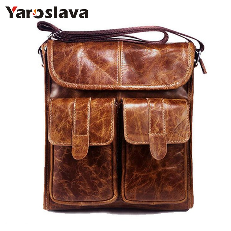 2018 New fashion men Crossbody Bags Retro Genuine Leather Shoulder bag Small famous Brand Designer Male Messenger Bags  LL476 bull captain2017 fashion genuine leather crossbody bags men small brand music messenger bags male shoulder bag chest bag for men